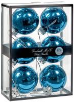 Набор шаров новогодних Goodwill UG 60027 (6шт, голубой металлик) -
