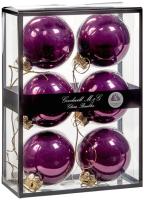 Набор шаров новогодних Goodwill UG 60019 (6шт, пурпурный) -