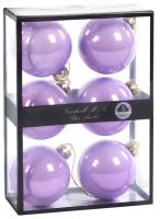 Набор шаров новогодних Goodwill P 36912 (6шт, лиловый) -