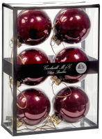 Набор шаров новогодних Goodwill UG 60010 (6шт, бургунди) -