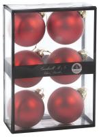 Набор шаров новогодних Goodwill P 36933 (6шт, красный матовый) -