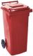 Контейнер для мусора Алеана 122064 (120л, красный) -