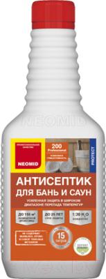 Антисептик для древесины Neomid Для бань и саун 200. Концентрат 1:30