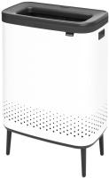 Бак для белья Brabantia Bo Laundry Bin Hi / 200540 (белый/черный) -