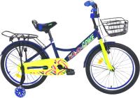 Детский велосипед Krakken Spike 2021 (16, синий) -