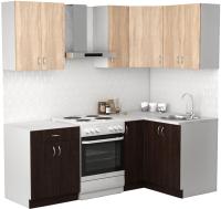 Готовая кухня S-Company Клео лайт 1.2x1.5 правая (венге/дуб сонома) -