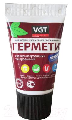 Герметик силиконовый VGT Для наружных и внутренних работ (160г, береза)