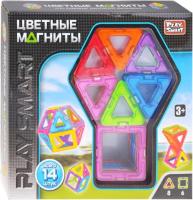 Конструктор магнитный Play Smart Цветные магниты / 2425 -