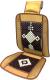Накидка на автомобильное сиденье AVG 204014 (коричневый с белым узором) -