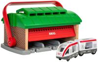 Аксессуар для железной дороги Brio Депо-переноска с поездом и вагоном / 33474 -