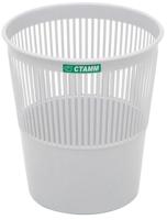 Корзина для бумаг Стамм КР22 (серый) -