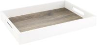 Поднос Grifeldecor Дуб светлый с белыми бортами / BZ182-8W179 -