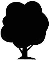 Магнит грифельный Grifeldecor Дерево / BZ177-6B91 -