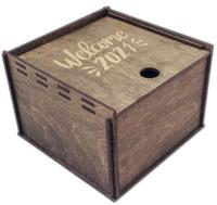 Коробка подарочная Woodstrong 2907 (10x10x5см) -