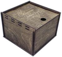 Коробка подарочная Woodstrong 2916 (10x10x5см) -