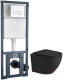 Унитаз подвесной с инсталляцией WeltWasser Merzbach 004 MT-BL + Marberg 410 SE -