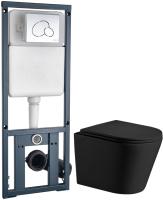 Унитаз подвесной с инсталляцией WeltWasser Salzbach 004 MT-BL + Marberg 410 RD  -