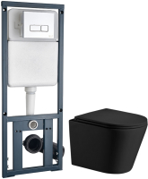 Унитаз подвесной с инсталляцией WeltWasser Salzbach 004 MT-BL + Marberg 410 SE -