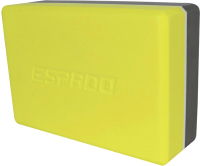 Блок для йоги Espado ES2722 (серый/желтый) -