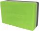 Блок для йоги Espado ES2722 (серый/зеленый) -