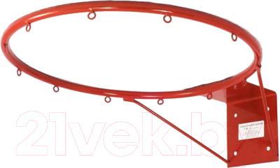 Баскетбольное кольцо No Brand КБ73 №7 без сетки