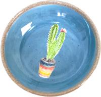 Миска для животных Tarhong Cactus / TCT3052CSSWC (голубой с рисунком) -