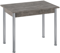 Обеденный стол ТриЯ Родос тип 1 с опорой (хром/ателье темный) -