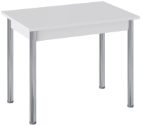 Обеденный стол ТриЯ Родос тип 1 с опорой (хром/белый) -