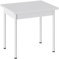 Обеденный стол ТриЯ Родос тип 2 с опорой (белый муар/белый) -