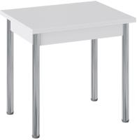 Обеденный стол ТриЯ Родос тип 2 с опорой (хром/белый) -