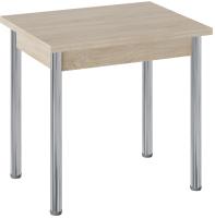 Обеденный стол ТриЯ Родос тип 2 с опорой (хром/дуб сонома) -