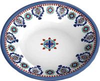 Миска для животных Tarhong Moroccan / TCT3052CSM (белый/синий с рисунком) -