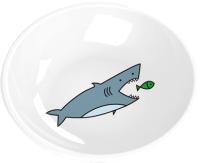 Миска для животных Tarhong Shark / PE20775279 (белый с рисунком) -