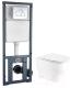 Унитаз подвесной с инсталляцией WeltWasser Erlenbach 004 GL-WT + Marberg 410 RD -