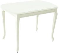 Обеденный стол Аврора Прага 120x80 (тон 71/жемчуг) -