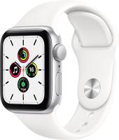Умные часы Apple Watch SE GPS 40mm / MYDM2 (алюминий серебристый/белый спортивный) -