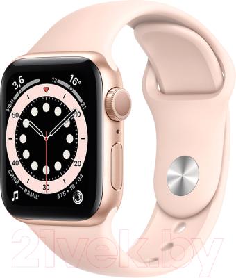 Фото - Умные часы Apple Watch Series 6 GPS 40mm / MG123 смарт часы apple watch series 6 40 мм gold mg123ru a