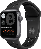 Умные часы Apple Watch SE Nike+ GPS 44mm / MYYK2 (алюминий серый космос/антрацитовый/черный) -