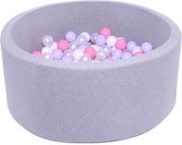Игровой сухой бассейн Babymix S/L-MR-B-J (200 шариков) -