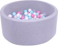 Игровой сухой бассейн Babymix S/B-MR-MG-P (200 шариков) -