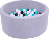 Игровой сухой бассейн Babymix S/B-M-SS-CH (200 шариков) -