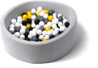 Игровой сухой бассейн Babymix S/B-S-CH-ZH-P (200 шариков) -