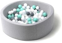 Игровой сухой бассейн Babymix S/B-S-M-P (200 шариков) -