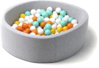 Игровой сухой бассейн Babymix S/B-ZH-OR-M (200 шариков) -