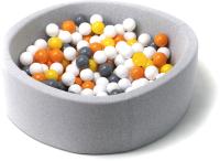 Игровой сухой бассейн Babymix S/B-S-ZH-OR (200 шариков) -