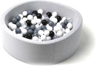 Игровой сухой бассейн Babymix S/B-S-CH-P (200 шариков) -