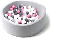 Игровой сухой бассейн Babymix S/B-MR-S-P (200 шариков) -