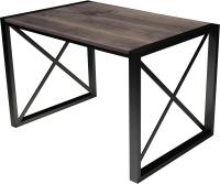 Обеденный стол Buro7 Лофт Классика 120x60x75 (дуб мореный/черный) -