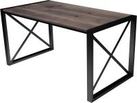 Обеденный стол Buro7 Лофт Классика 150x60x75 (дуб мореный/черный) -