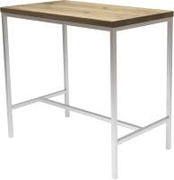 Обеденный стол Buro7 Большой Классика 118x64x106 (дуб беленый/белый) -